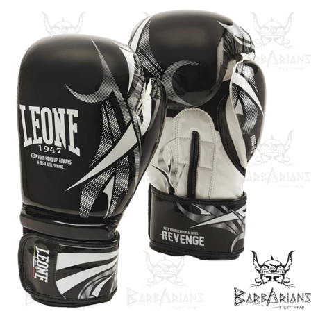 "Leone 1947 Boxing Gloves \""Revenge\\"" Black images, photos, pictures on Boxing Gloves GN069"