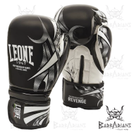 """Photo de Gant de boxe Leone 1947 \\""""Revenge\\"""" noir pour Gant de Boxe GN069"""