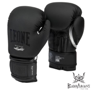"Photo de Gant de boxe Leone 1947 \""Black and White\\"" noir pour Gant de Boxe GN059"