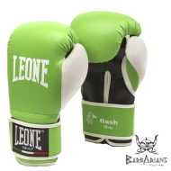 "Photo de Gant de boxe Leone 1947 \""FLASH\\"" vert pour Gant de Boxe GN083"