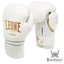 Leone 1947 Boxhanschuhe 'Black and White' Weiss