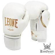 "Photo de Gant de boxe Leone 1947 \""Black and White\\"" blanc pour Gant de Boxe GN059"