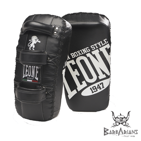 Leone 1947 Thai Pads curved black leather images, photos, pictures on Kicking Shields [ Thai & Kick Pads | Punch Mitts | bell...