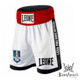 "Shorts de boxe Anglaise Leone 1947 ""Contender"" blanc"