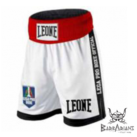 "Leone 1947 Boxing Shorts \""Contender\\"" white images, photos, pictures on Boxing short AB735"