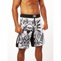 "MMA Shorts Leone 1947 ""INVICTUS"" white"