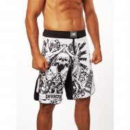 "MMA Shorts Leone 1947 \""INVICTUS\\"" white images, photos, pictures on MMA & Val Tudo Shorts AB791"