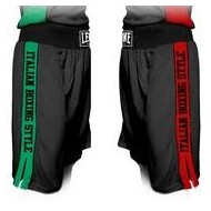 Leone 1947 Boxing Shorts black polyester images, photos, pictures on Boxing short AB739
