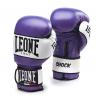 """Photo de Gant de boxe cuir Leone 1947 \\""""Shock\\"""" violet pour Gant de Boxe GN047"""