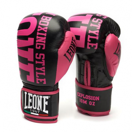 "Leone 1947 Boxing gloves \""Explosion\\"" fushia images, photos, pictures on Boxing Gloves GN055"