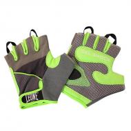 Bodybuilding Leone 1947 schwarze Handschuhe grün