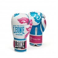 """Photo de Gant de boxe Leone 1947 \\""""Muay Thaï\\"""" Fuschia pour Boxe feminine GN031"""