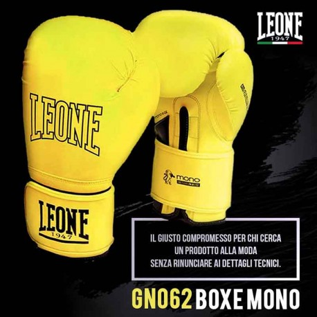 "Boxing gloves Leone 1947 yellow \""Mono\\"" images, photos, pictures on Boxing Gloves GN062"