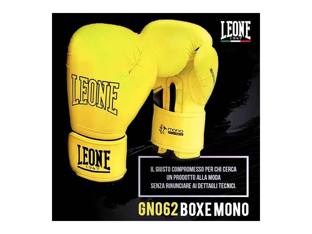 retrouvez nos gant de boxe leone 1947 mono jaune. Black Bedroom Furniture Sets. Home Design Ideas