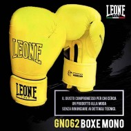 """Photo de Gant de boxe Leone 1947 \\""""Mono\\"""" jaune pour Gant de Boxe GN062"""