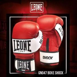 """Leone 1947 Boxhandschuhe """"Shock"""" rot Leder"""