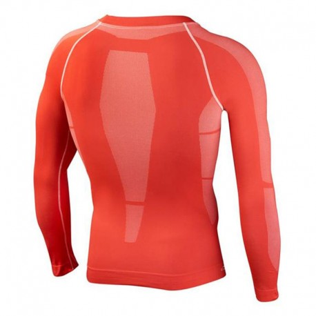 Leone 1947 Long shirt seamless man Red images, photos, pictures on Tee-Shirt de Compression ABX27