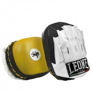 Leone 1947 Punch mitts curved yellow leather images, photos, pictures on Kicking Shields [ Thai & Kick Pads | Punch Mitts | b...