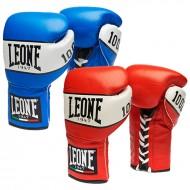 """Photo de Gant de boxe Leone 1947 \\""""Shock\\"""" à lacets pour Gant de Boxe GN047 L"""