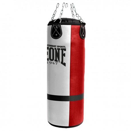 Photo de Sac de frappe Leone 1947 60kg KING SIZE blanc & rouge pour Sac de frappe de boxe AT843