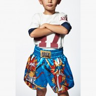 Photo de Short enfant Kick boxing et boxe thai Junior | enfant HERO Leone 1947 pour short kick boxing | short boxe thai ABJ02