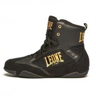 """Photo de Chaussure de boxe noir \\""""PREMIUM\\"""" Leone 1947 pour Chaussures de boxe CL110"""
