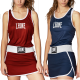 Women Boxing Singlet Leone 1947 MATCH images, photos, pictures on Tee-Shirt Boxe Anglaise AB283