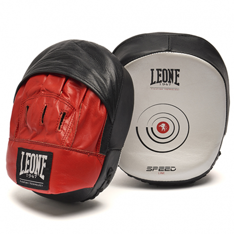 """Small curved Mitts Leone 1947 \\""""SPEED LINE\\"""" images, photos, pictures on Kicking Shields [ Thai & Kick Pads 