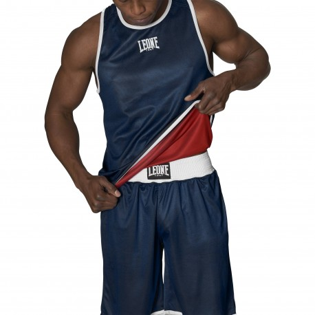 Leone 1947 DOUBLE FACE Boxing Singlet images, photos, pictures on Tee-Shirt Boxe Anglaise AB214