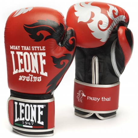"""Leone 1947 Boxing gloves \\""""Muay Thaï\\"""" red images, photos, pictures on Boxing Gloves GN031"""