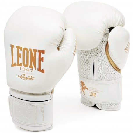 """Leone 1947 Boxing gloves \\""""Black and White\\"""" white images, photos, pictures on Boxing Gloves GN059"""