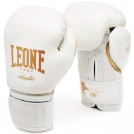 "Leone 1947 Boxing gloves  ""Black and White"" white"