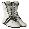100% cuir & made in Italy chaussure boxe blanche Leone 1947
