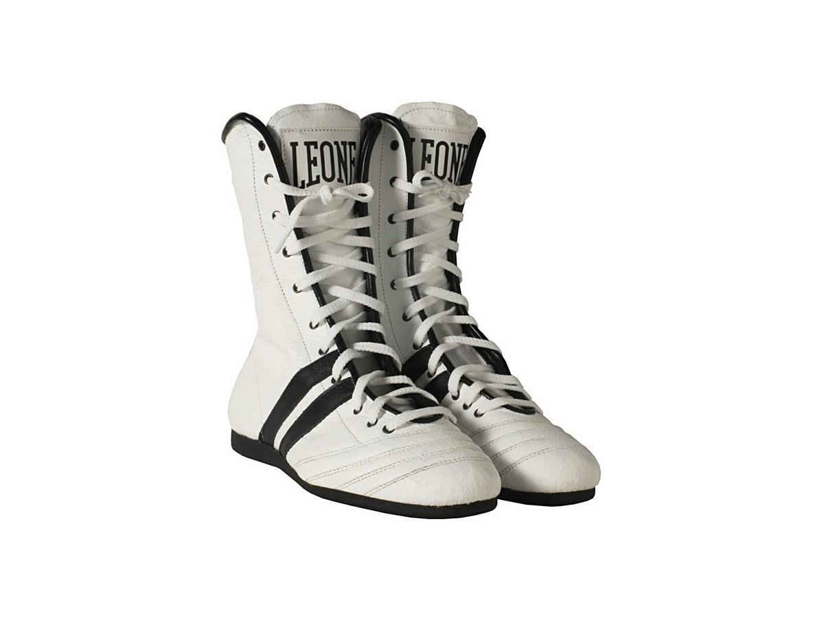 size 40 5f0d0 f635b Entdecken für Leone 1947 Boxstiefel Boxerschuhe Weiss ...