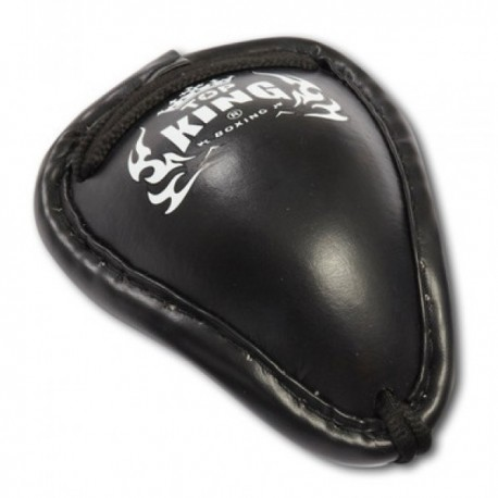 Photo de Coquille Thaï Top King noir pour  coquille boxe | coquille protection TKGGP