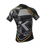 Contract  Killer Rashguard  black and yellow Short sleeves