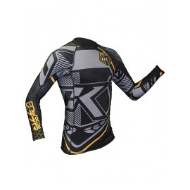 Rashguard Contract Killer schwarz gelb Langarm