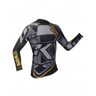 Contract Killer Rashguard Long Sleeves Black and Yellow images, photos, pictures on MMA Rashguards CKBYSRL