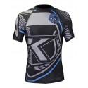 Contract-Killer Rashguard shorts sleeves black and blue