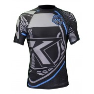 Contract-Killer Rashguard shorts sleeves black and blue images, photos, pictures on MMA Rashguards CKBBSRS