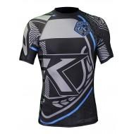 Rashguard Contract Killer noir et bleu manches courtes