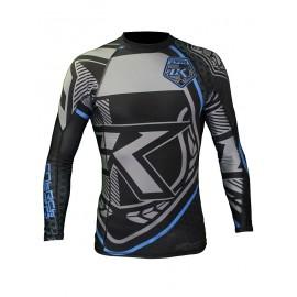 Contract Killer  Rashguard Long Sleeves Black and Blue