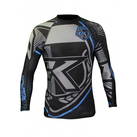 Contract Killer Rashguard Long Sleeves Black and Blue images, photos, pictures on MMA Rashguards CKBBSRL