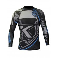 Contract Killer  Rashguard Long Sleeves Black and Blue