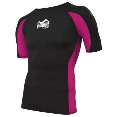 "Phantom mma Rashguard \""Shadow\\"" Pink and Black images, photos, pictures on MMA Rashguards PHRGSHADSS-SPS"