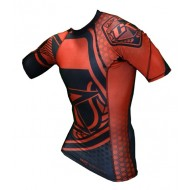 Contract Killer  Rashguard Short Sleeves Black and  Red