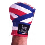 Boxbandagen Barbarians Fight Wear France Blau Weib Rot