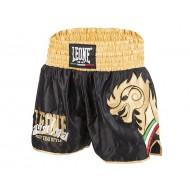 Leone 1947 Shorts Kick-Thaï 'WING' Schwarz