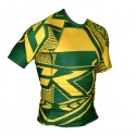 Contract Killer  Short Sleeve Brazil Rashguard Green and Yellow