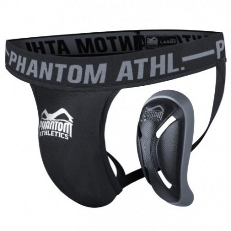 Phantom MMA groinguard black contact sports images, photos, pictures on Groin Guards & Compression Trunks PHGGVECTOR-S